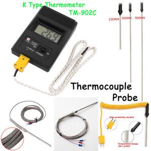 LCD K-Typ Digital Thermoelement Temperatursonde Thermometer Sensors Sonde
