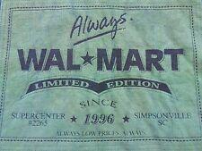 Vtg. Limited Edition Always WALMART SC Since 96 Save Money Live Better T-shirt L