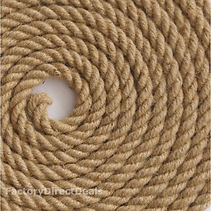 Seilwerk STANKE Cuerda de Yute 1 m de 18 mm Hilos Naturales Aparejo C/á/ñamo Jute Cuerda Tender la Cuerda Cuerda de Barandilla