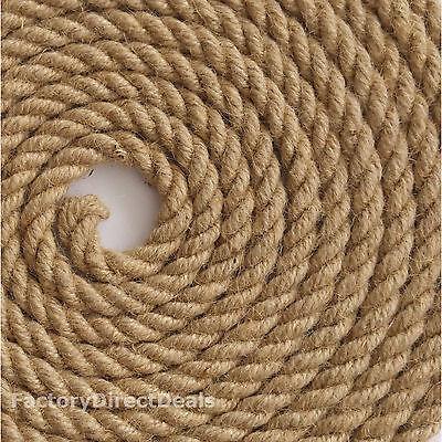 Seilwerk STANKE Cuerda de Yute 50 m de 14 mm Hilos Naturales Aparejo C/á/ñamo Jute Cuerda Tender la Cuerda Cuerda de Barandilla