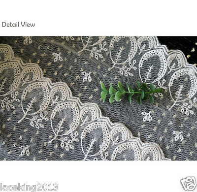"10Y+free4Yds Broderie Anglaise mesh eyelet lace trim 4.5""(11cm) YH1470 laceking"