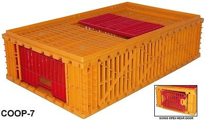 "32""x24""x11"" Game Bird Transport Crate 4H Show Cage Bantam Chicken Heavy Duty"