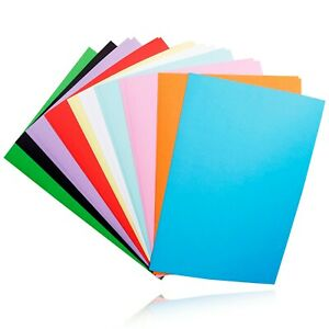 NEU-Tonpapier-buntes-Bastel-Papier-DIN-A4-20-Blatt-Mix-farbig-Block-sortiert-Set