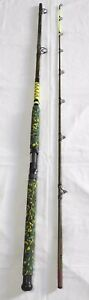 Catfish-Casting-Rod-9-039-2PC-Camouflage-Blank-amp-Handle-Glow-Tip