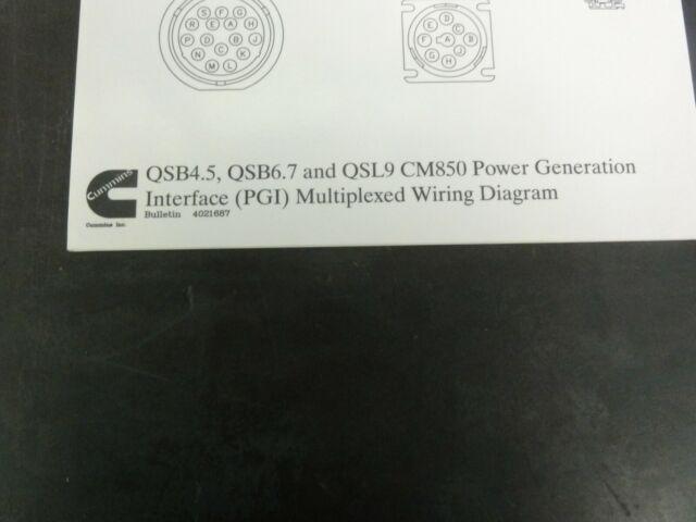 Cummins Qsb4 5 Qsb6 7 Qsl9 Cm850 Power Generation