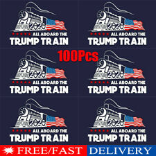 WHOLESALE LOT OF 12 ALL ABOARD THE TRUMP TRAIN FACE MASK 2020 President USA GOP