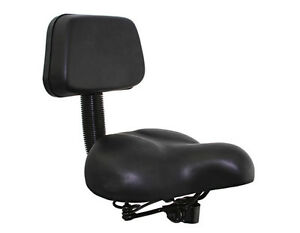 Bicycle Bike Seat W//Back Rest 350 Beach Cruiser Lowrider BMX Chopper Black
