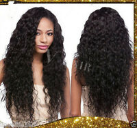 2016 Hot Sell ! Unprocessed Virgin Water Wavy Black Women Hair Wigs