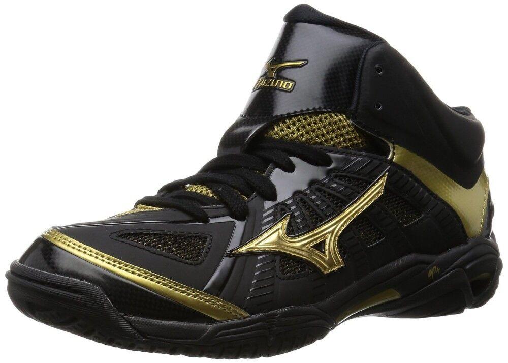 Zapatos de baloncesto Unisex Mizuno Wave Real oro X BB7 W1GA1600 Negro