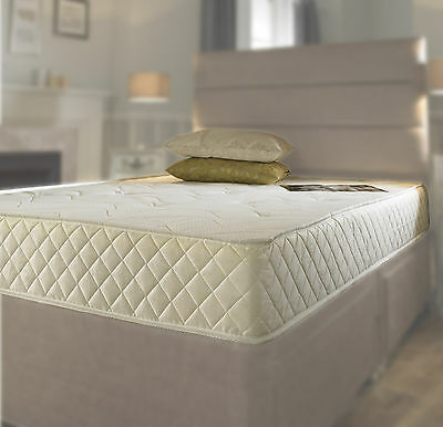 Quilted Memory Foam Breathable Mattress New 3ft Single 4ft6 Double 5ft King