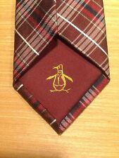 Original Penguin Mens Red Black Silver Neckwear NeckTie Tie $50 NWT Perfect!
