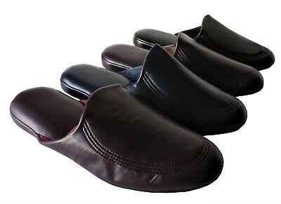 Herren Hausschuhe,Pantoffeln,Latschen,LEDER Gr 40-41-42-43-44-45-46 NEU