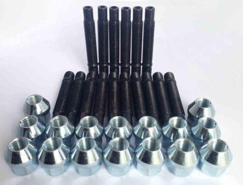 Argento M14 x 1.5 90mm Stud Kit di conversione per sedile Inc Nuts