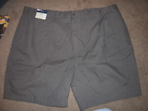 NEW-ROUNDTREE-amp-YORKE-EASY-CARE-khaki-shorts-olive-green-golf-big-tall-size-50