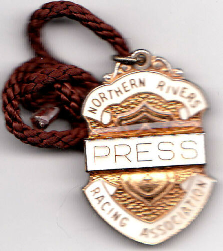 Northern Rivers Racing Association NSW 19823 Press Badge Scarce Number 10