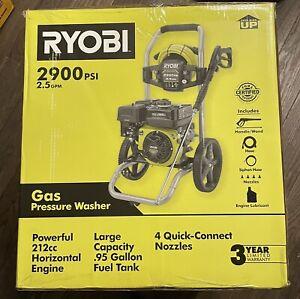Ryobi RY802925VNM 2,900-PSI 2.5-GPM Cold Water Gas Pressure Washer - New!