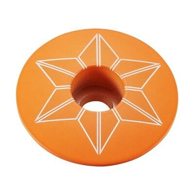 "SUPACAZ STAR CAPZ 1-1//8/"" POWDER COATED NEON ORANGE BICYCLE HEADSET TOP CAP"
