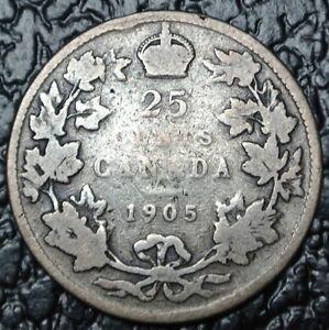 1905 CANADA - 25 CENTS SILVER - Edward VII