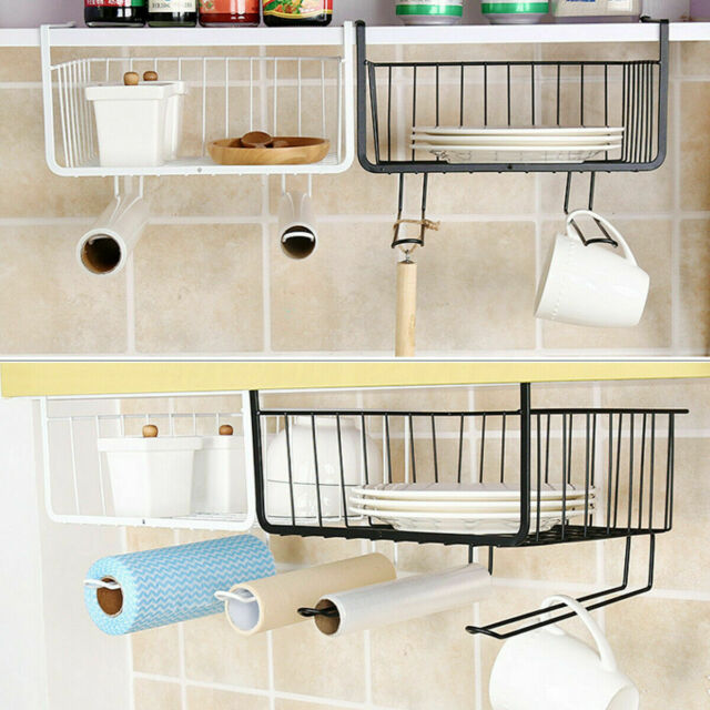 Kitchen Storage Bin Under Shelf Wire