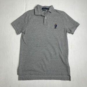 Polo-Ralph-Lauren-Custom-Fit-Bear-Gray-Polo-Limited-Edition-Shirt-Men-039-s-Size-M