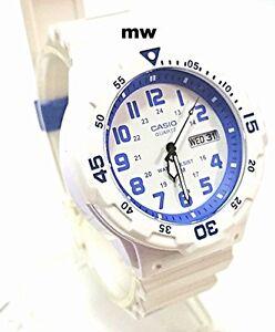 New-Casio-Men-Teens-Watch-100M-Date-Day-Quartz-Analog-White-Rubber-MRW-200HC-7B2