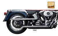 Santee 1 3/4 Shotgun Drag Pipes Exhaust Harley Davidson Softail 2007-2011