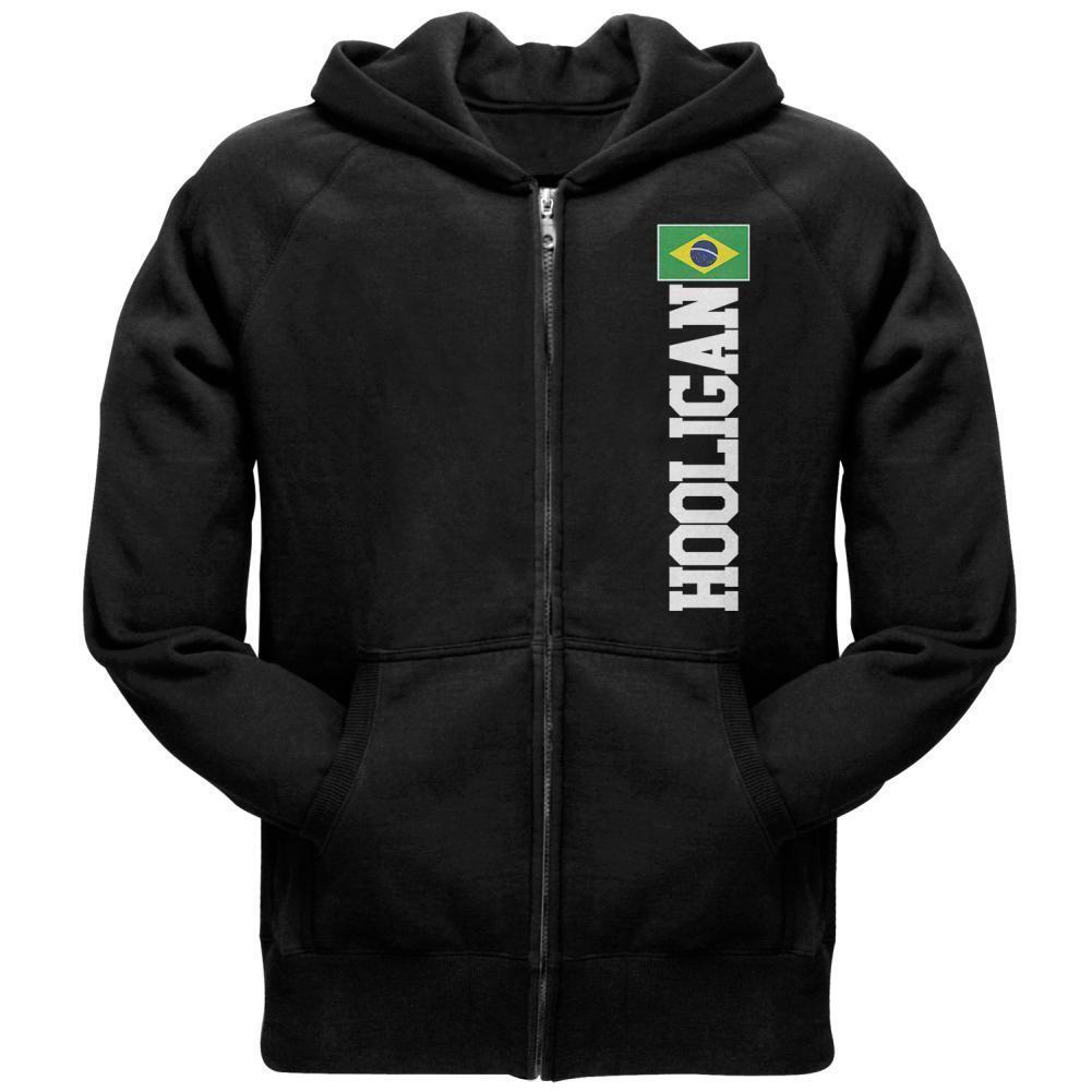 World Cup Hooligan Brazil  Herren Full Zip Hoodie