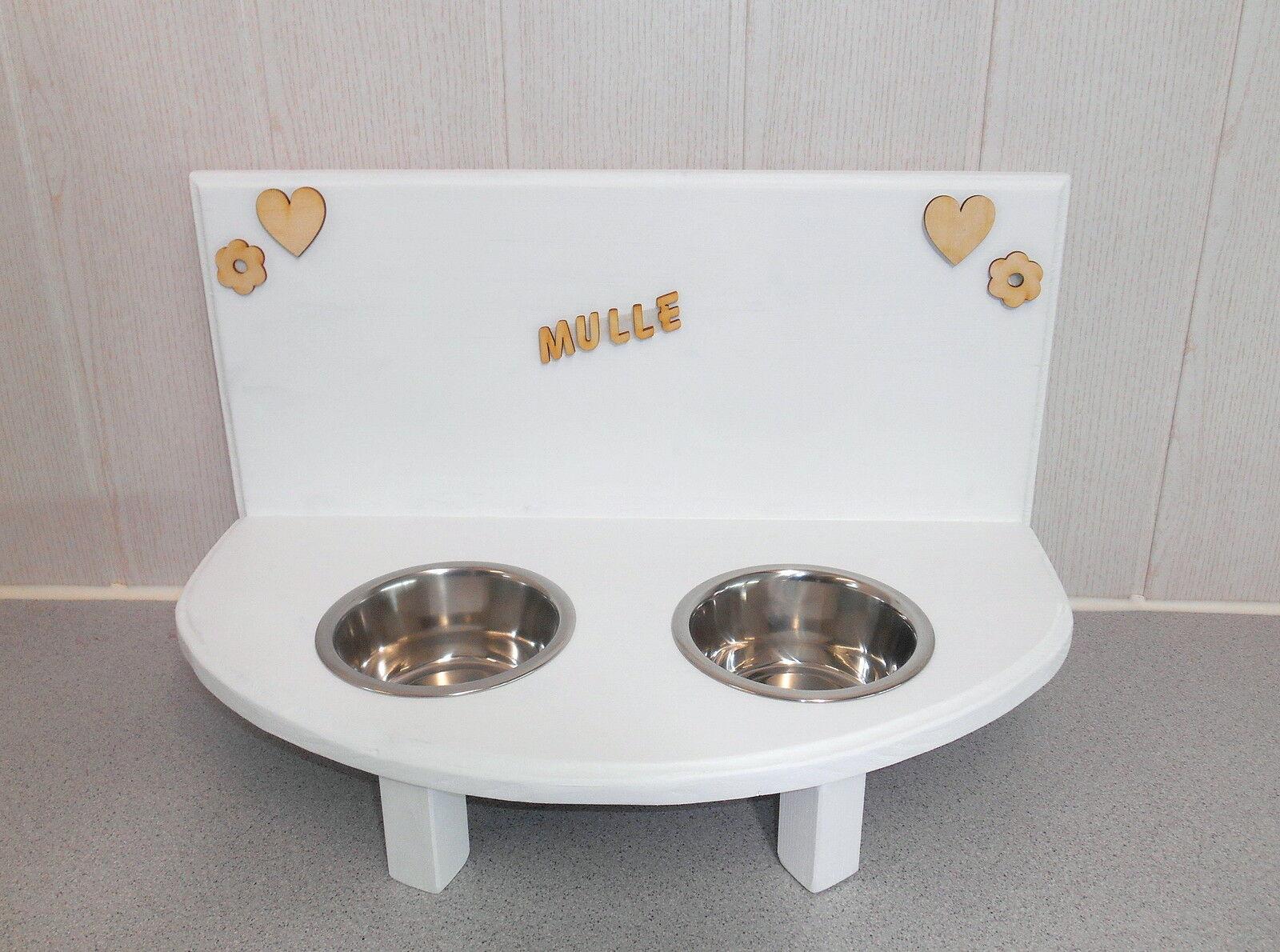 Katzennapf -Buche-  weiß, Futterstation, Näpfe, Napfhalter (59454c) | Haltbarkeit