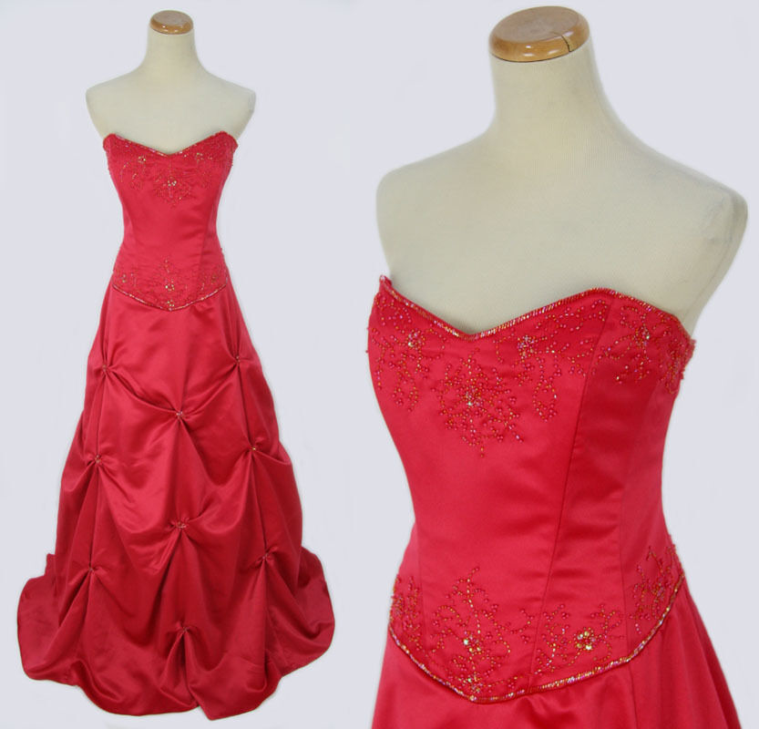 7eb95730a7 Blondie Nites 200 Evening Prom Formal Junior Dress size 17 Watermelon Long  Gown