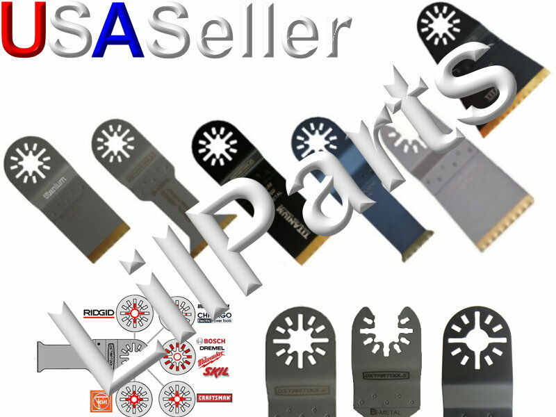 Titanium Coated Bi Metal Saw Blade Oscillating Multi Tool Blade Kit