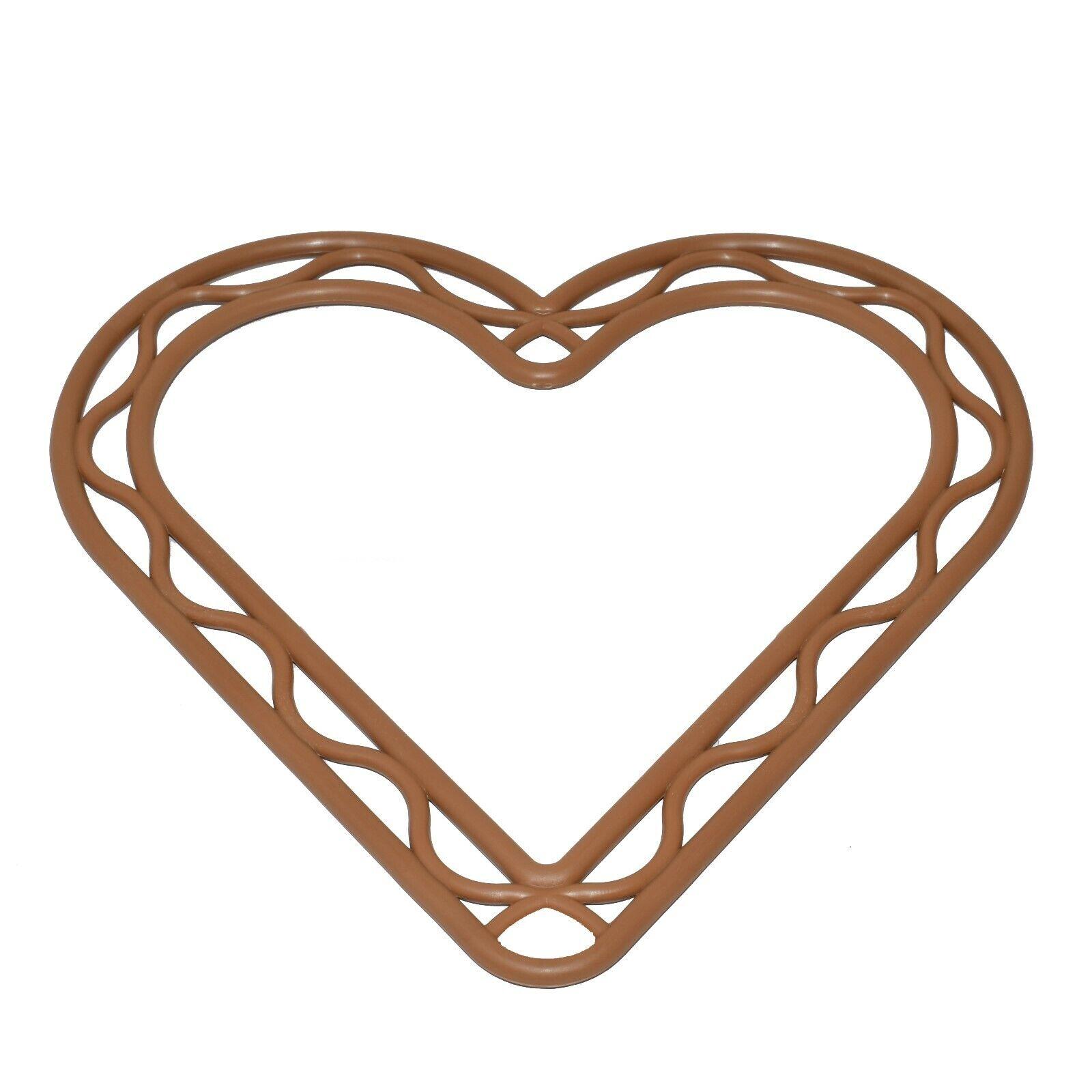 8 pulgadas Marrón Plástico Corazón en forma de corona decoración de Marco Floristry Bodas