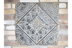 Metal Wall Art Panel Tile Rustic Morroccan Style 60cm square