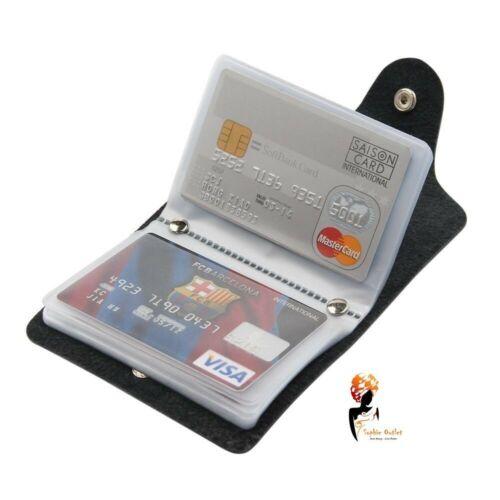 Morbido nero pelle titolare della carta di credito wallet Borsa Marsupio Porta RFID