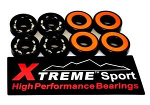 16-x-Pack-608-Xtreme-ABEC-11-ORANGE-HIGH-PERFORMANCE-BEARINGS-SKATEBOARD-SCOOTER