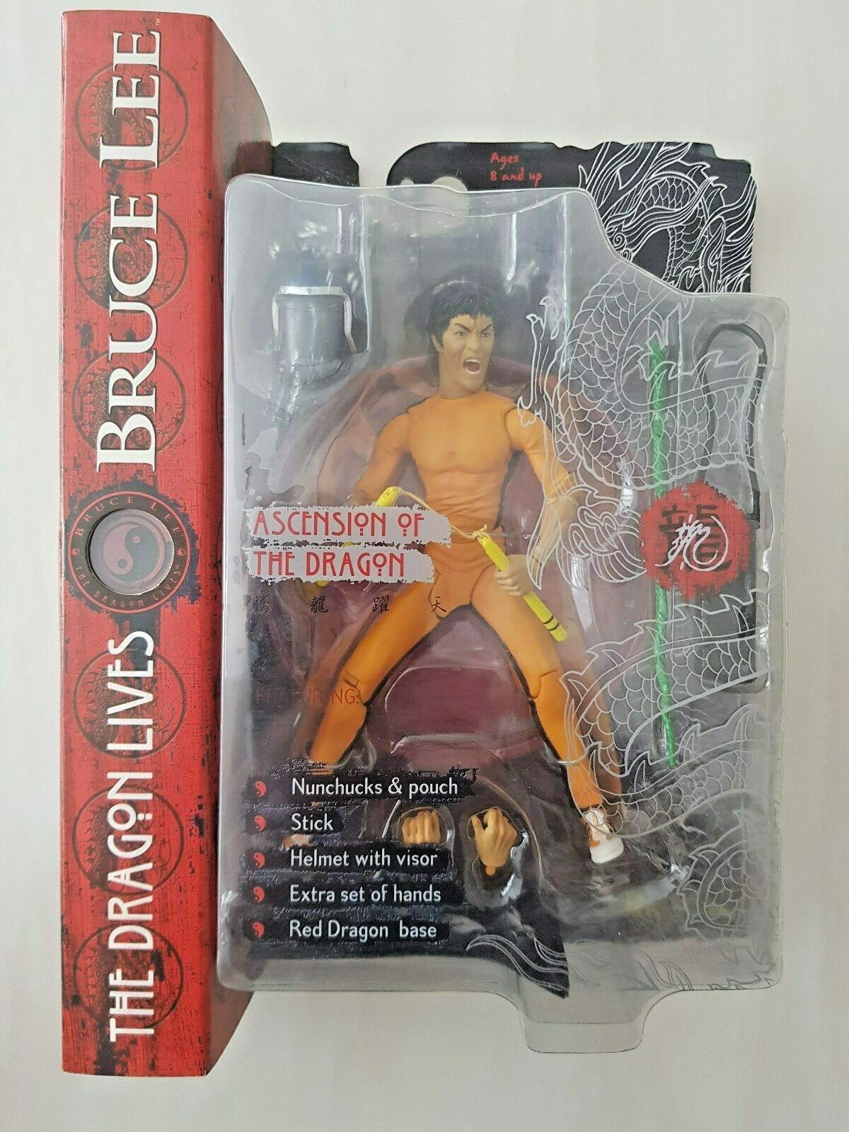 ART ASYLUM  Bruce lee figure THE DRAGON LIVES GAME OF DEATH