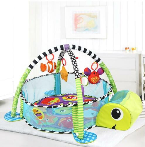 Turtle Baby Gym 3 in 1 Activity Play Floor Mat Ball Pit /& Toys Babies Playmat UK