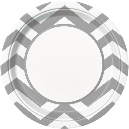 vaisselle // Anniversaire Chevron gamme de papier plaques-Pack de 8-23 cm {unique}