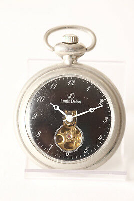 Keep You Fit All The Time 4,5 Cm Opem Unruh In Dial Face 66192 Symbol Of The Brand Louis Delon Pocket Watch Silver Colored