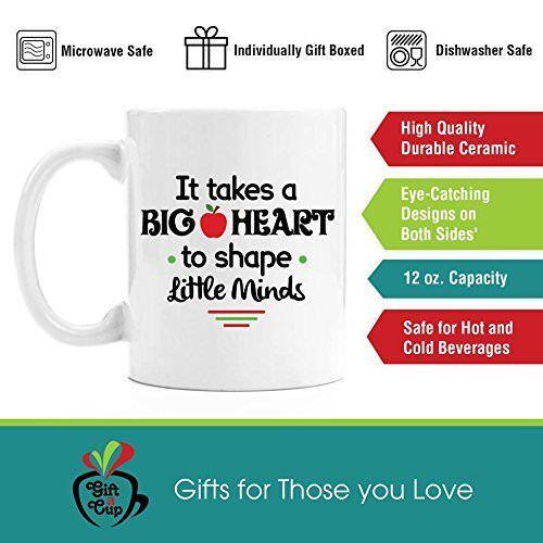 Details about  /Coffee Mug Gift It Takes a Big Heart New Premium Teacher 11 oz White Ceramic