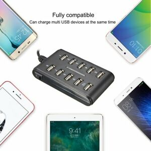 10-Ports-Hub-USB-2-0-High-Speed-Adapter-Extension-Cable-Plug-amp-Play-PC-Laptop-D1