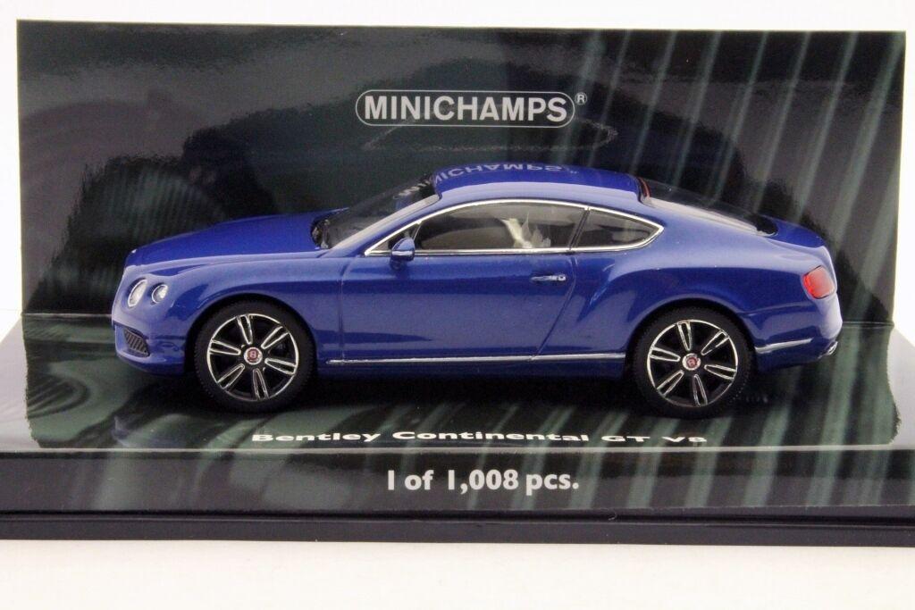 BENTLEY CONTINENTAL GT V8 2011 azul METALLIC MINICHAMPS 436139982 1 43 LHD azul