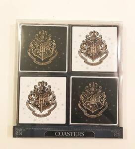 Primark-Coaster-Black-amp-White-Harry-Potter-Hogwarts-Crest-Coaster-Drinking-Mat