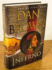 Signed Langdon Inferno Bk 4 Dan Brown 2013 Hardcover 1st Edition 1st print HC/DJ