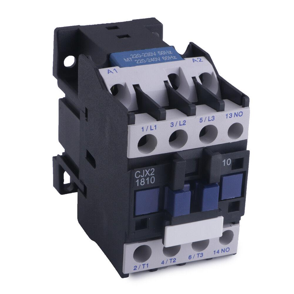 Heschen AC Contactor CJX1-22//22 24V Coil 50//60Hz 9.5KW 3 Pole 2NO+2NC 380V 22A