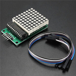 LED-Display-Matrix-8x8-MAX7219-Dot-Module-MCU-Control-mit-Cable-Kit-fuer-Arduino