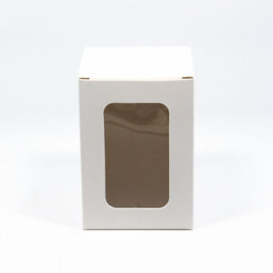 Details About White Paper Party Gift Box With Window Toys Craft Display Boxes Cardboard Box