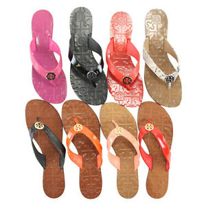 9f951612c Image is loading NEW-Tory-Burch-Thora-Leather-Thong-Sandals-Flip-