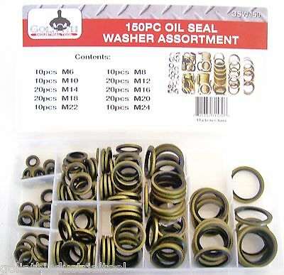 BONDED OIL SEAL DOWTY WASHER  METRIC KIT 6 mm 22 MM  90Pcs.