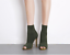 Fashion-Women-Stiletto-High-Heel-Ankle-Boots-Knit-Stretch-Peep-Toe-Shoes-Booties thumbnail 2