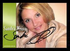 Sandra Weiss Autogrammkarte Original Signiert ## BC 100692